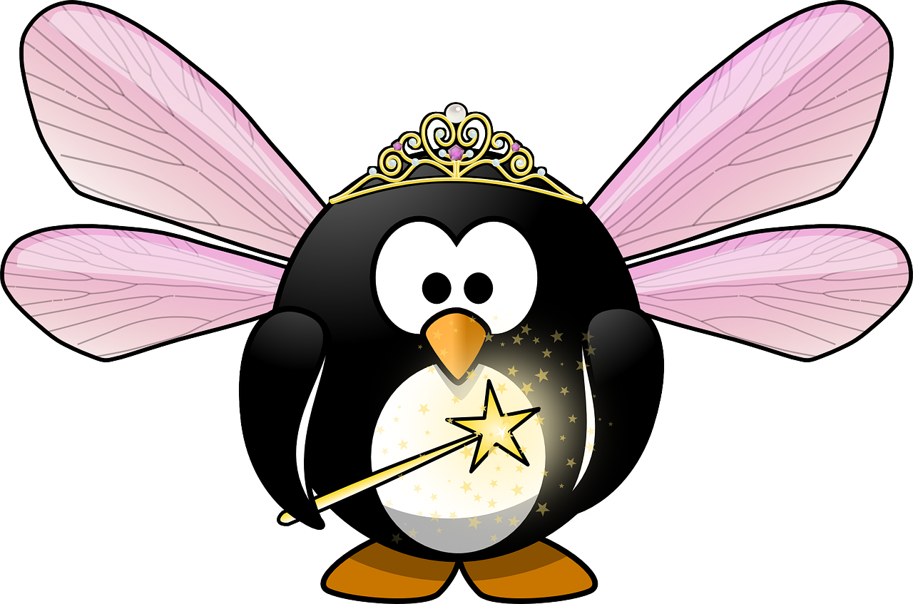 Tux Animal Bird Cute Crown Elf