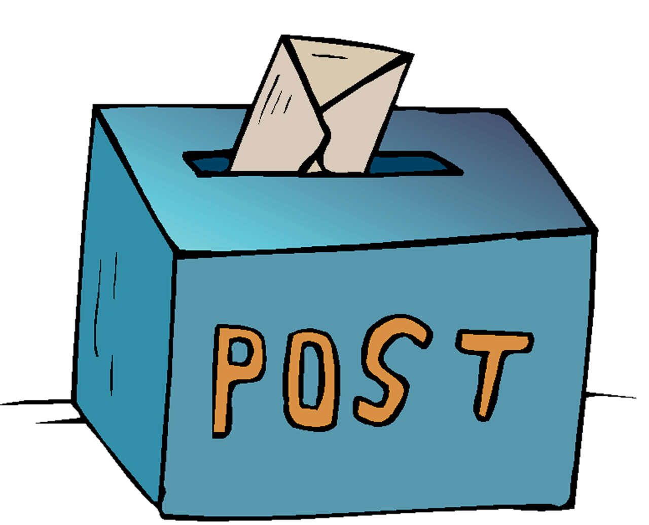 Post Box Package Cardboard