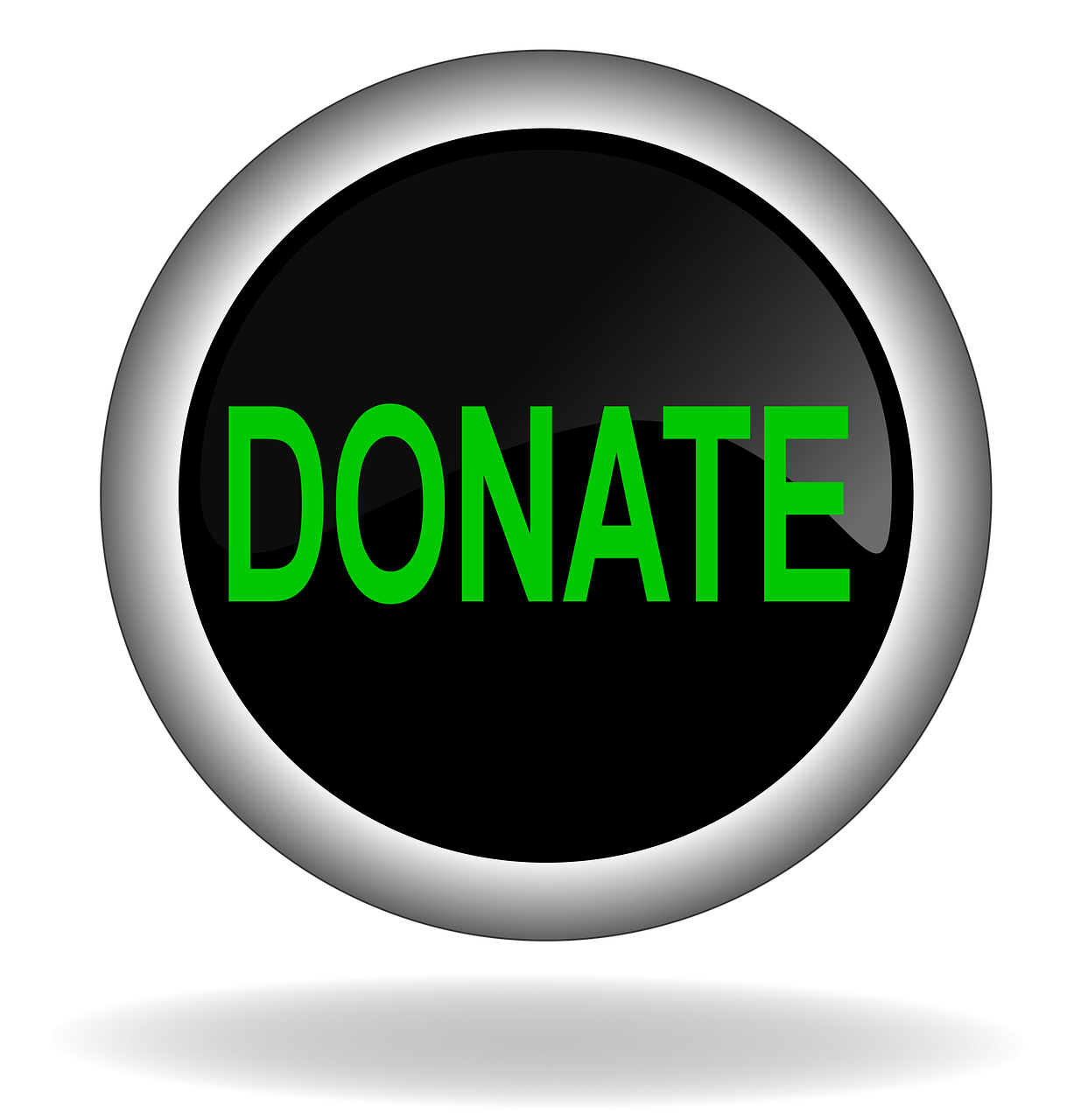 Donate Charity Button Icon Back
