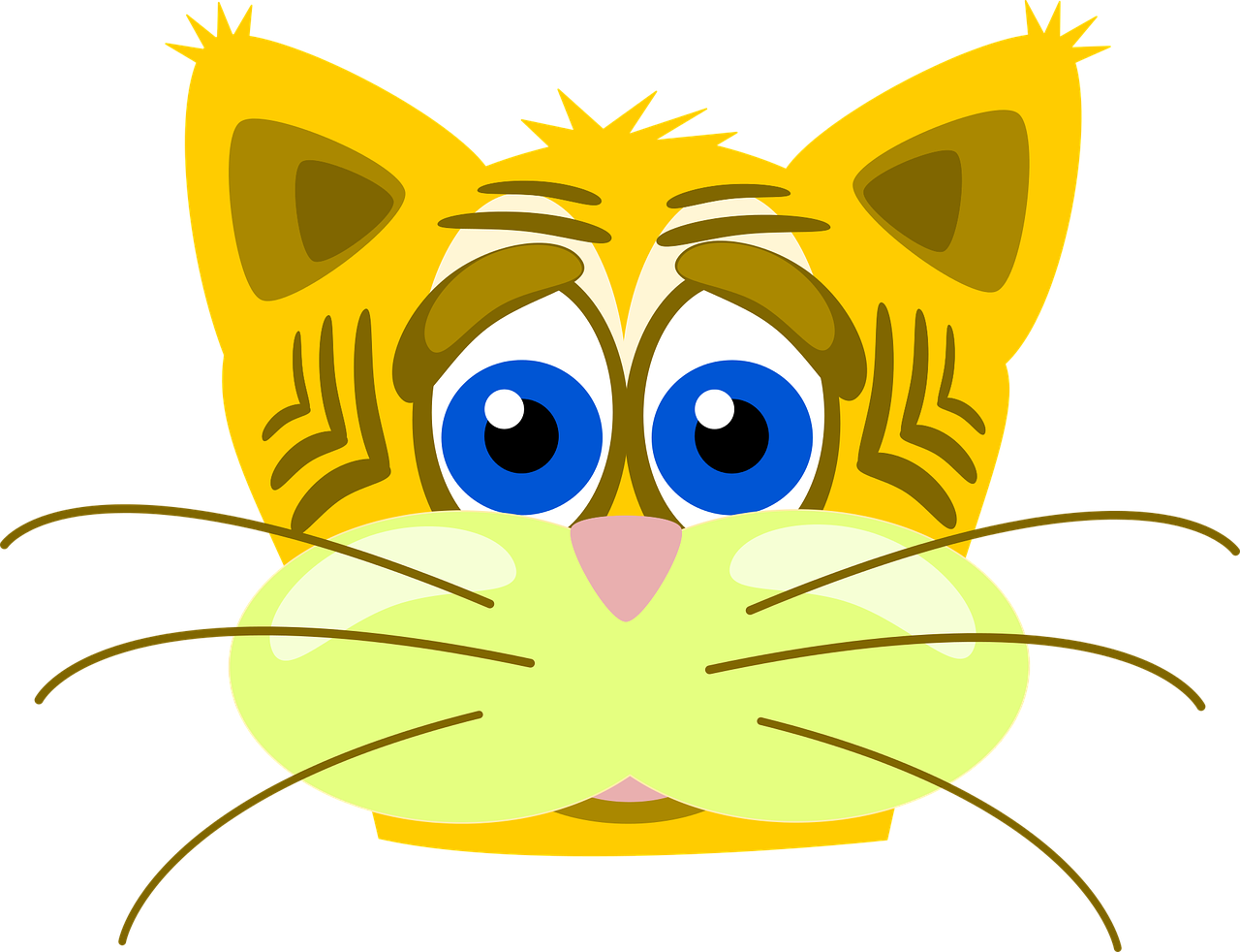 Cat Sad Inkscape Vector