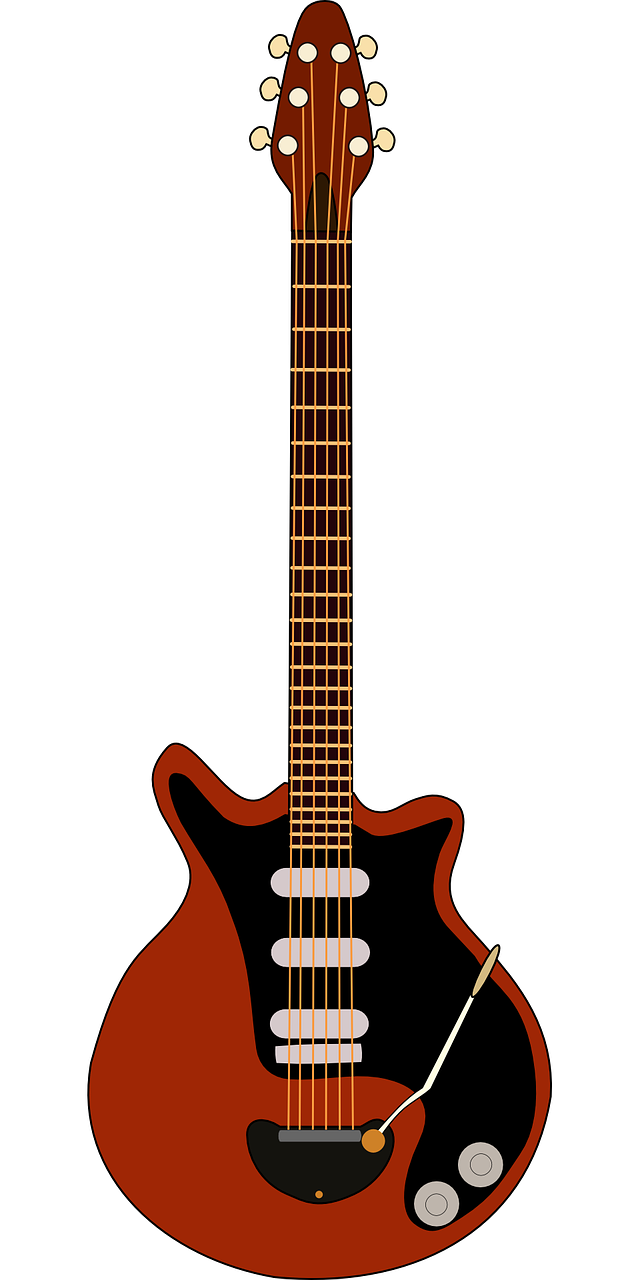 Electric Guitar Music Red May