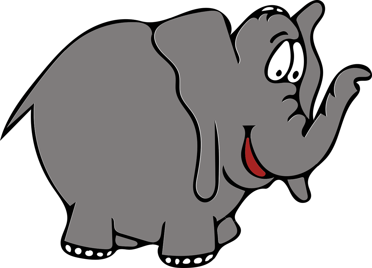 Elephant Gray Trunk