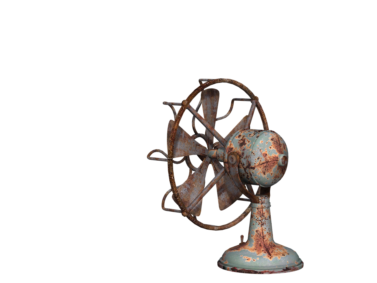 Fan Steamunk Old Rusted