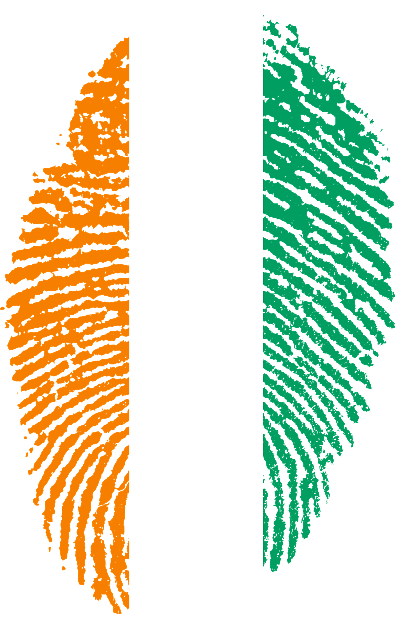 Ivory Coast Flag Fingerprint