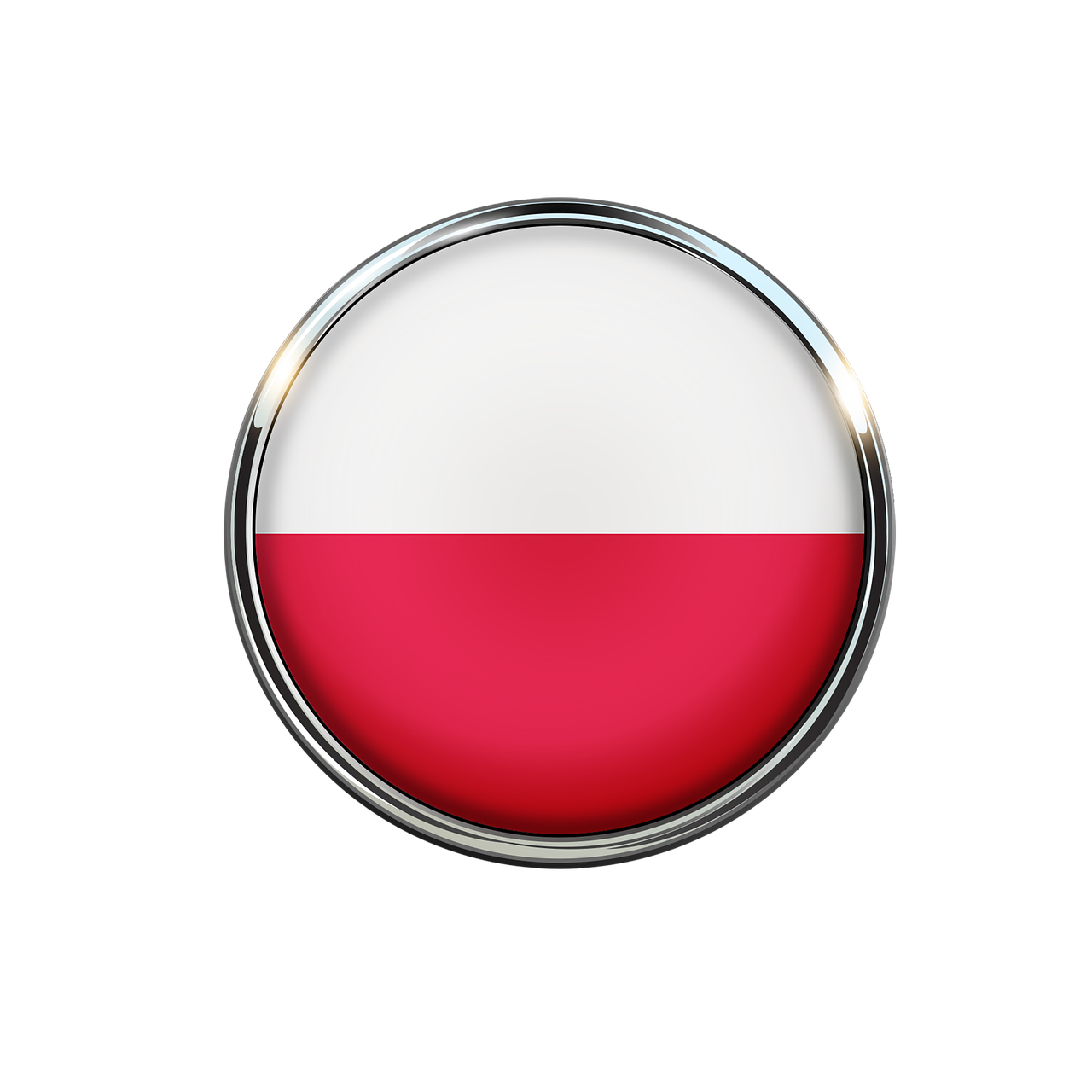 Poland Flag Circle Wallpaper