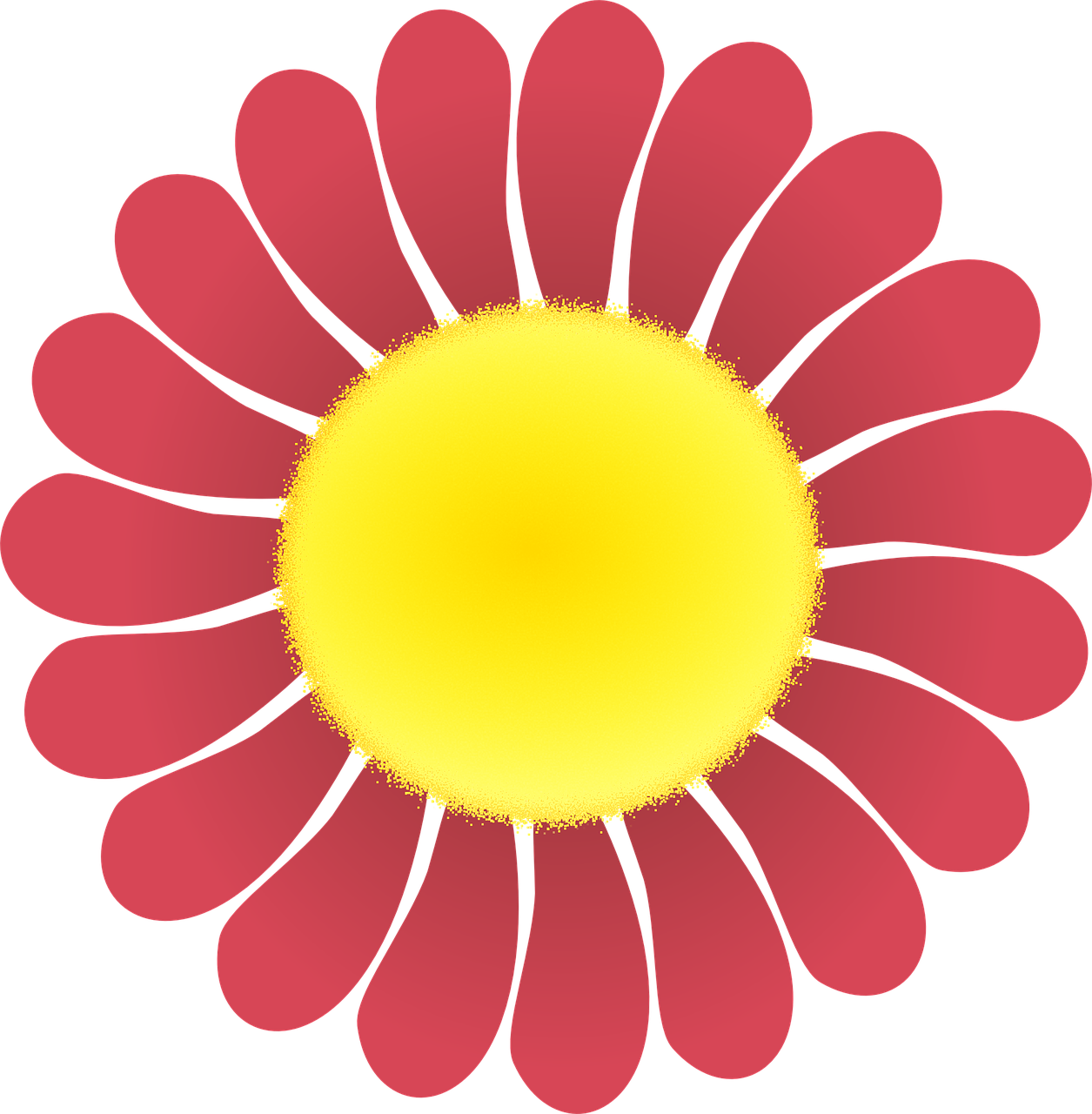 Flower Red Flower Vector