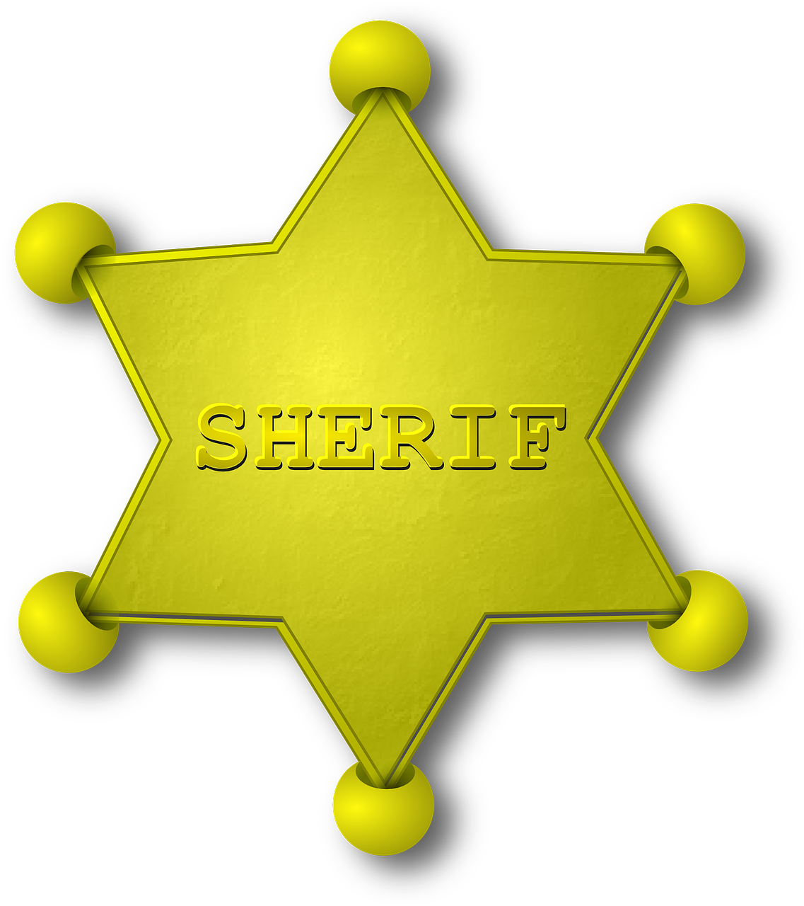 Sheriff Gold Star Emblem