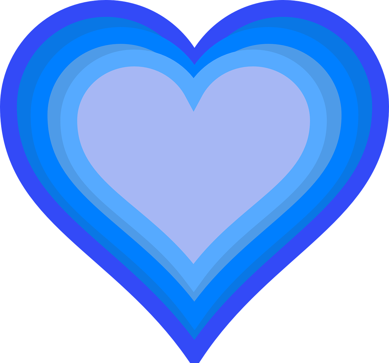 Heart Blue Love One Romance