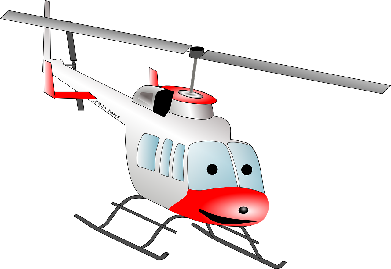 Helicopter Chopper Cartoon Fly