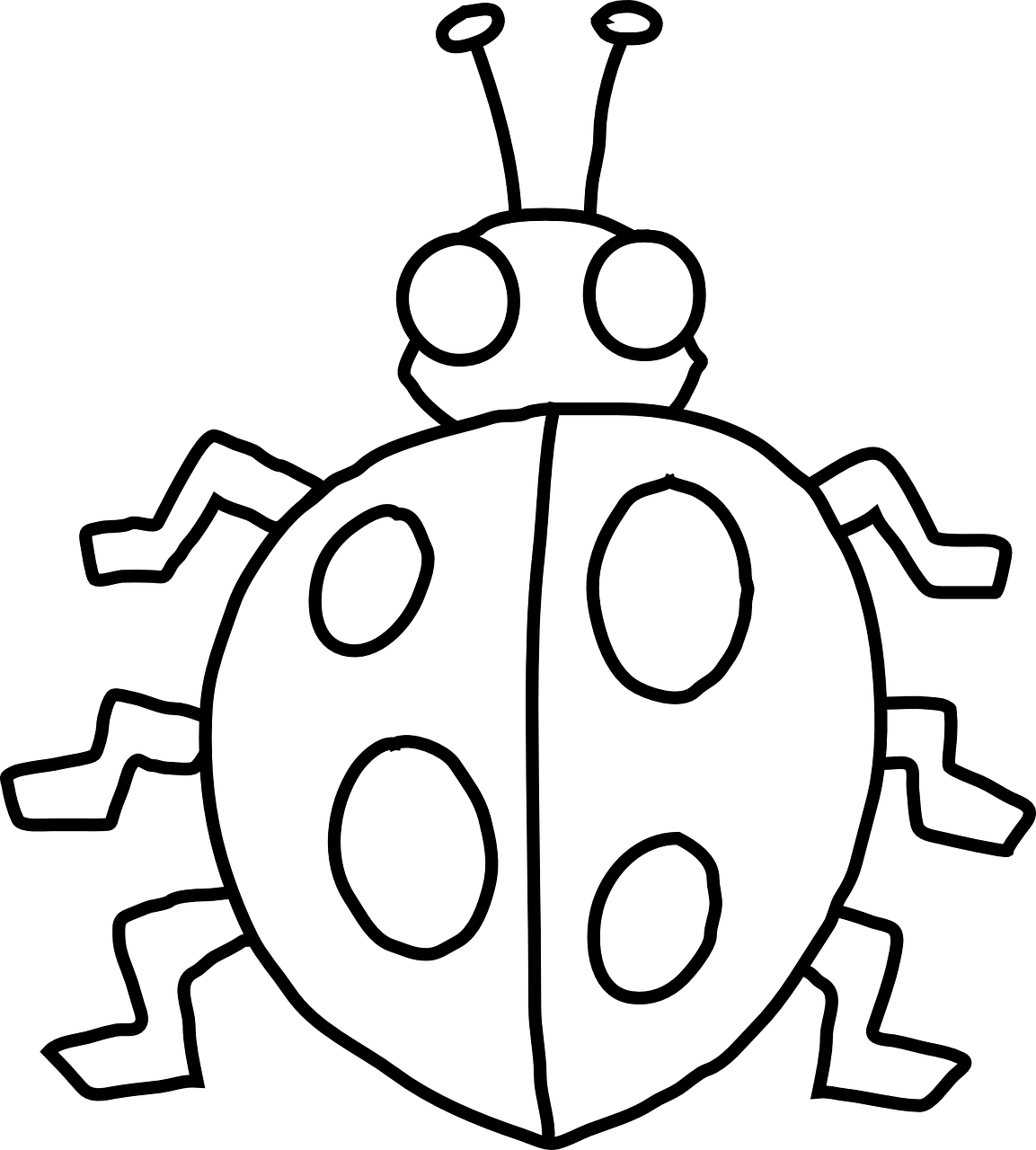 ladybird ladybug black outline png   picpng  picpng