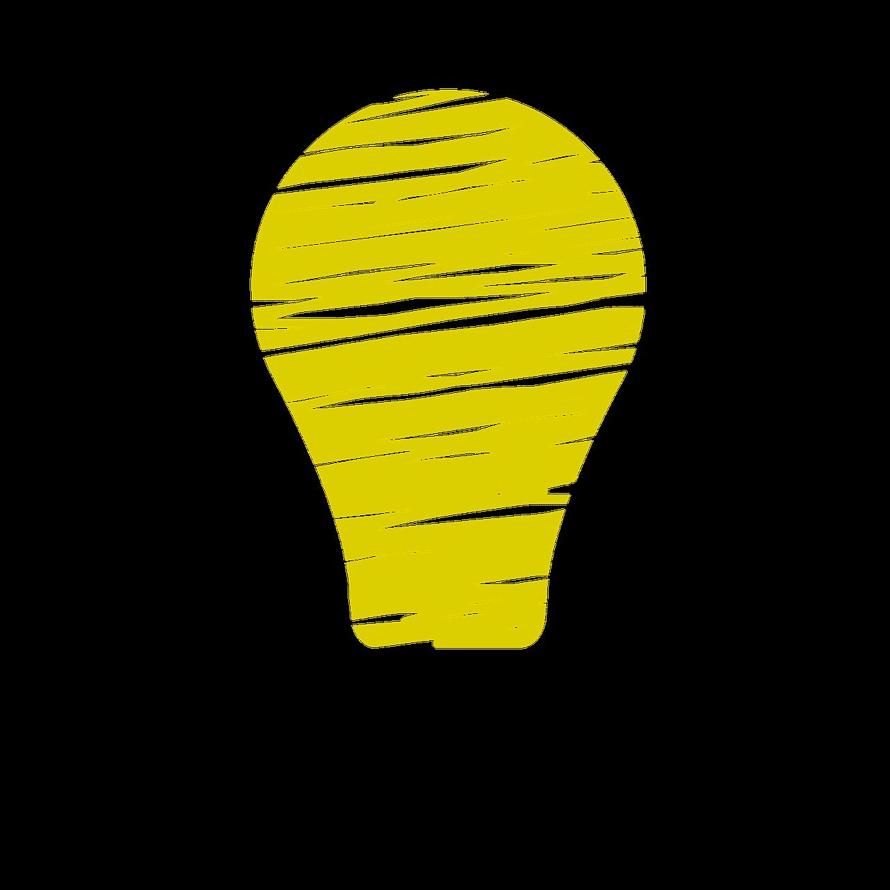 Light Bulb Idea Genius Yellow PNG   Picpng