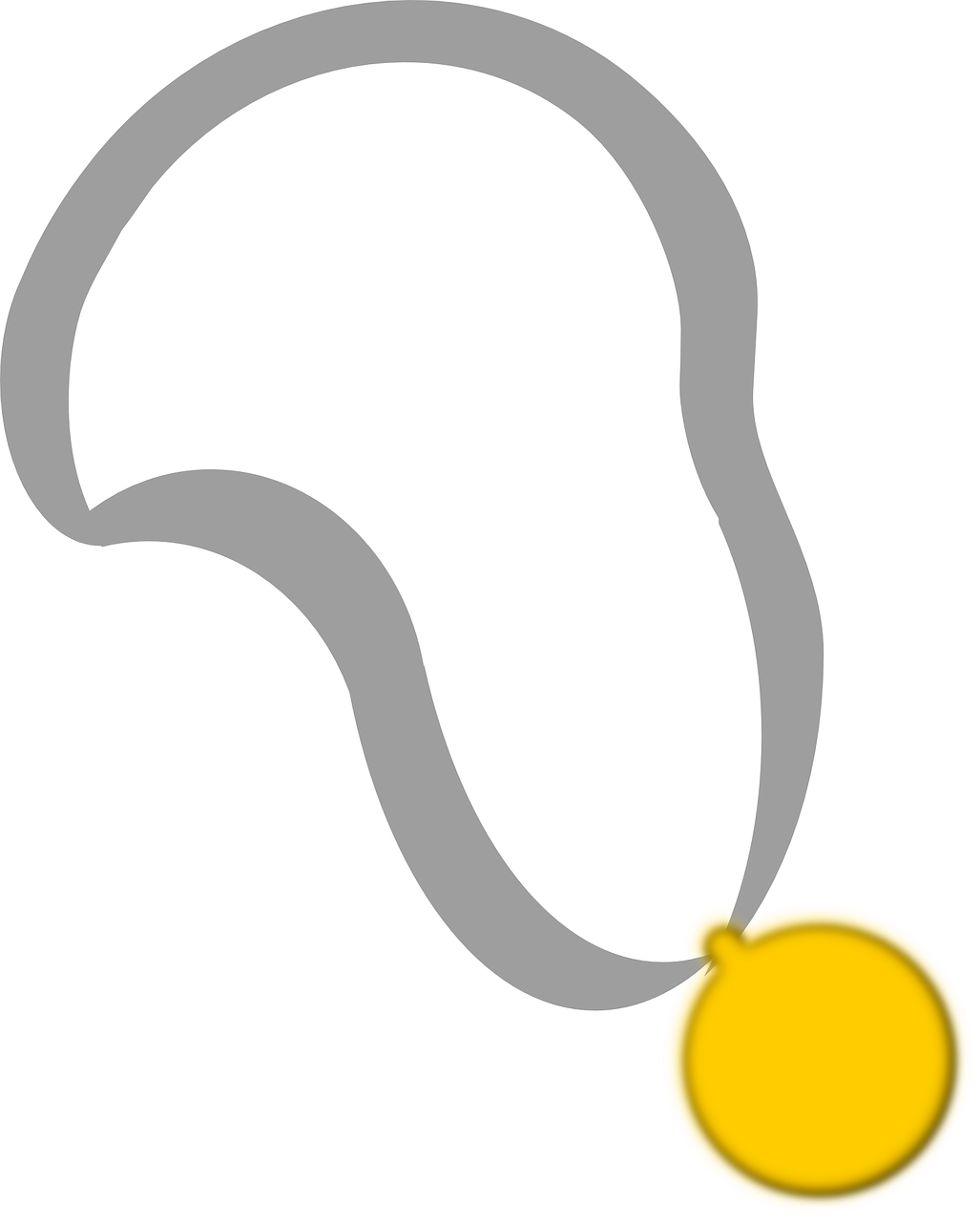 Medal Ribbon Award Winner