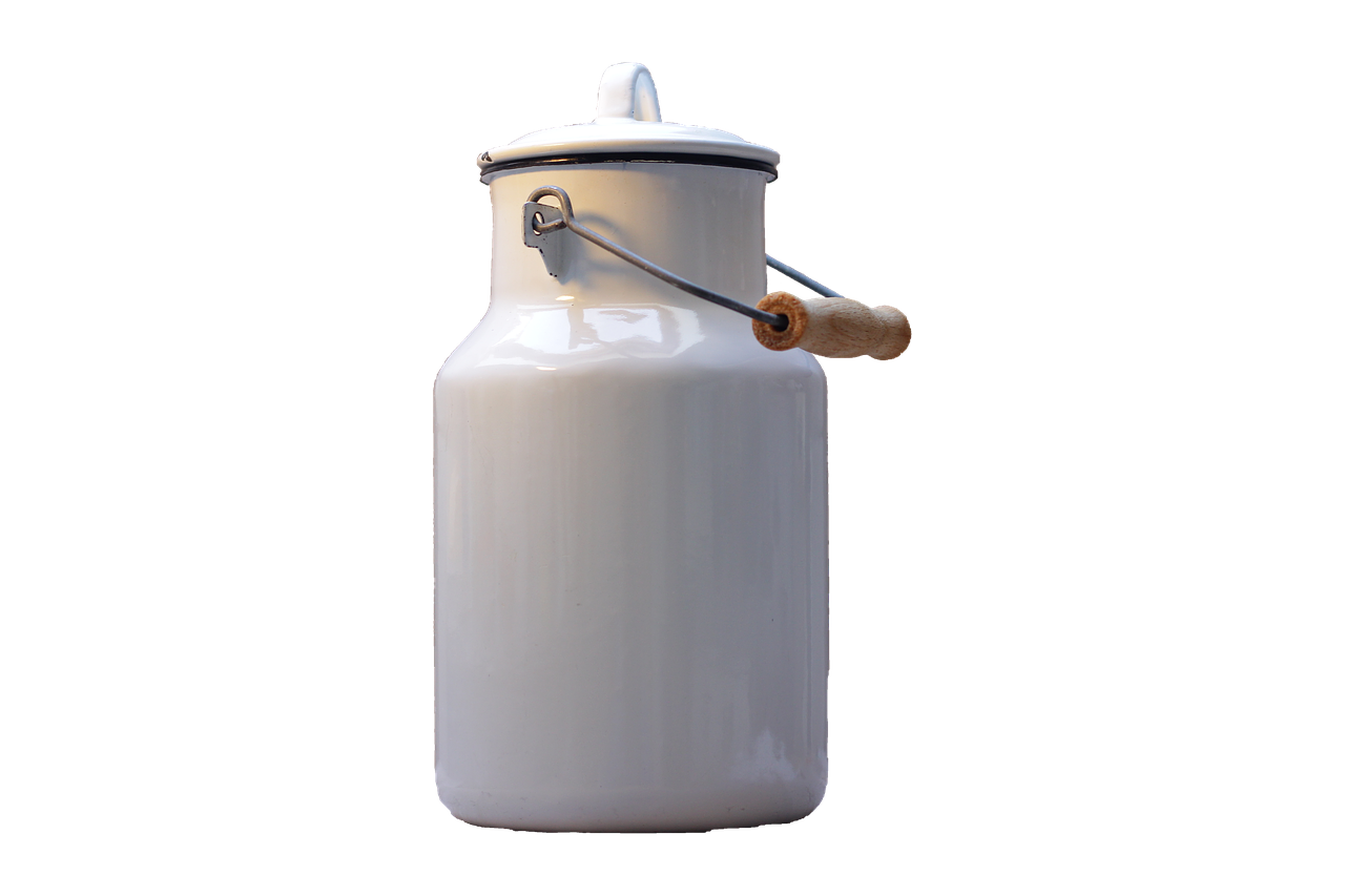 Milk Can White Isolated Png