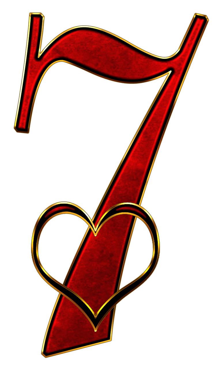 Number 7 Seven Digit Background