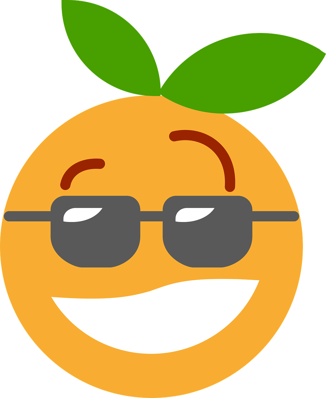 Cool Clementine Orange Cartoon