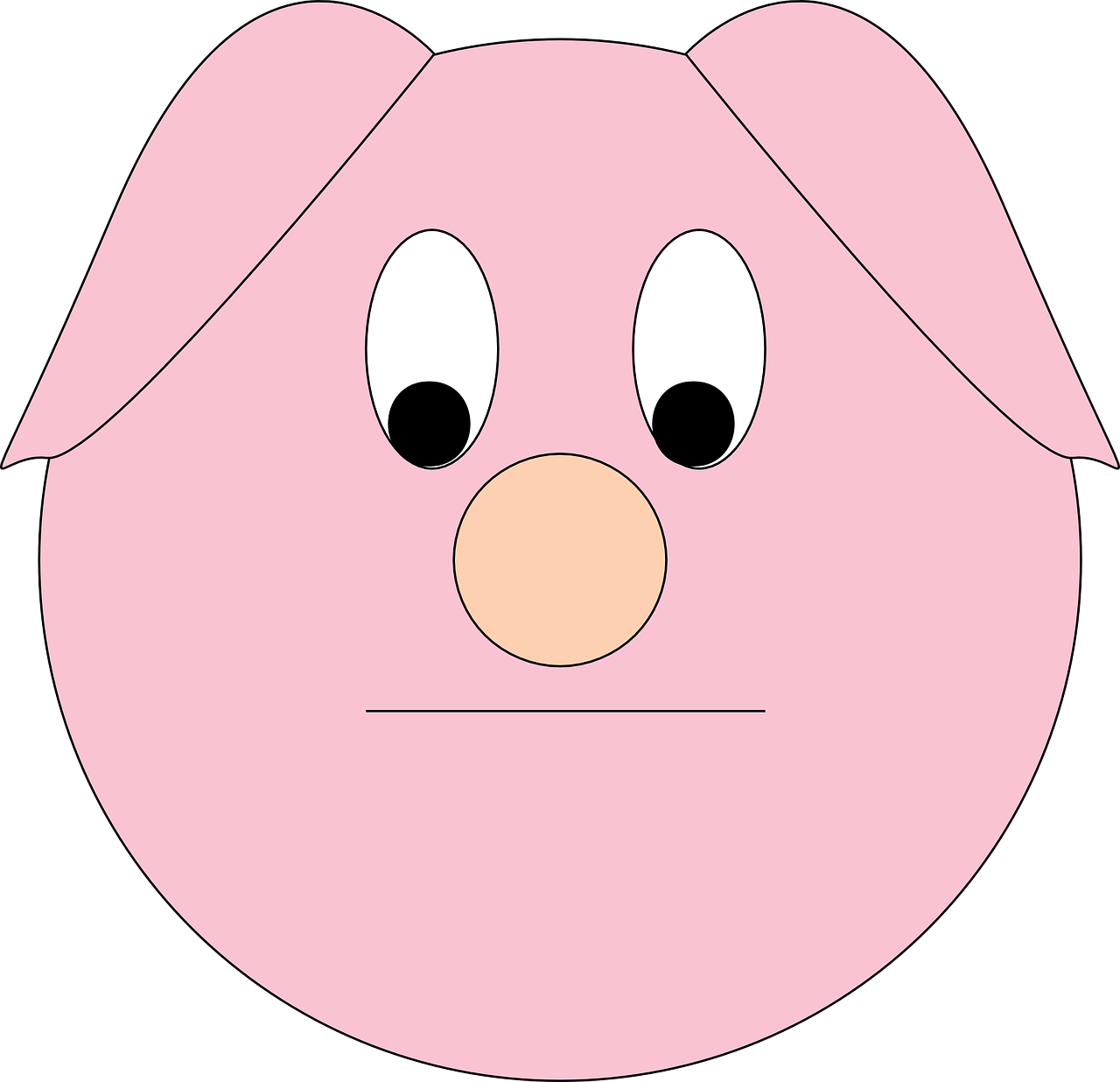 Pig Sad Animal Farm Piggy Head