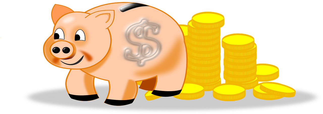 Piggy Bank Coins Money To Save