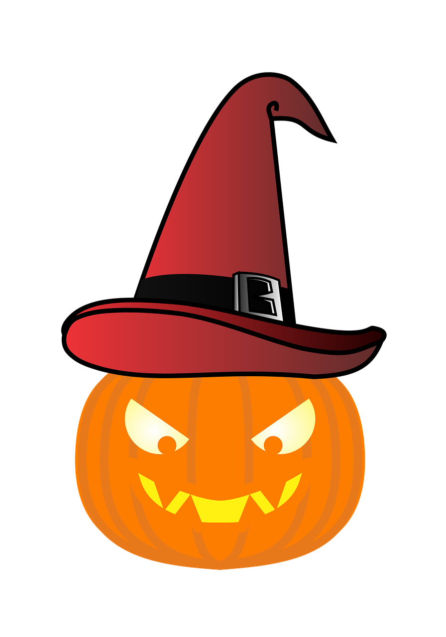 Pumpkin Witch'S Hat Red Hat