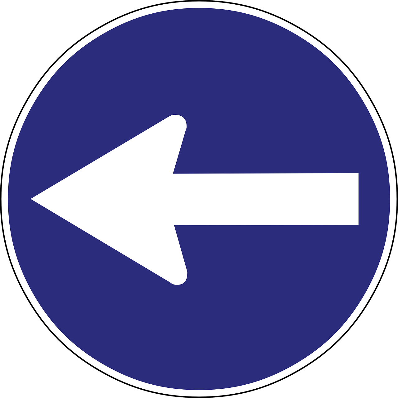 Road Sign Direction Arrow
