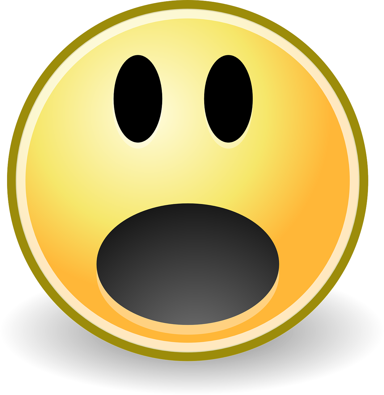 Surprise Smiley Oh Fear Scare PNG | Picpng