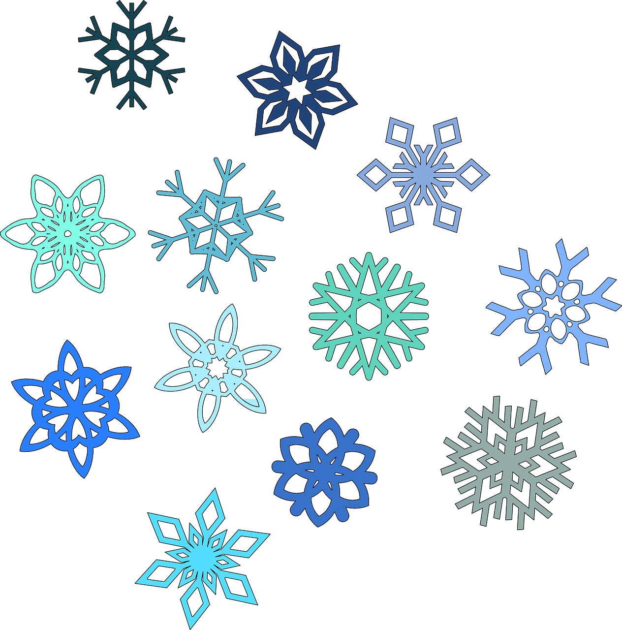 Snowflake Hexagon Snow Winter