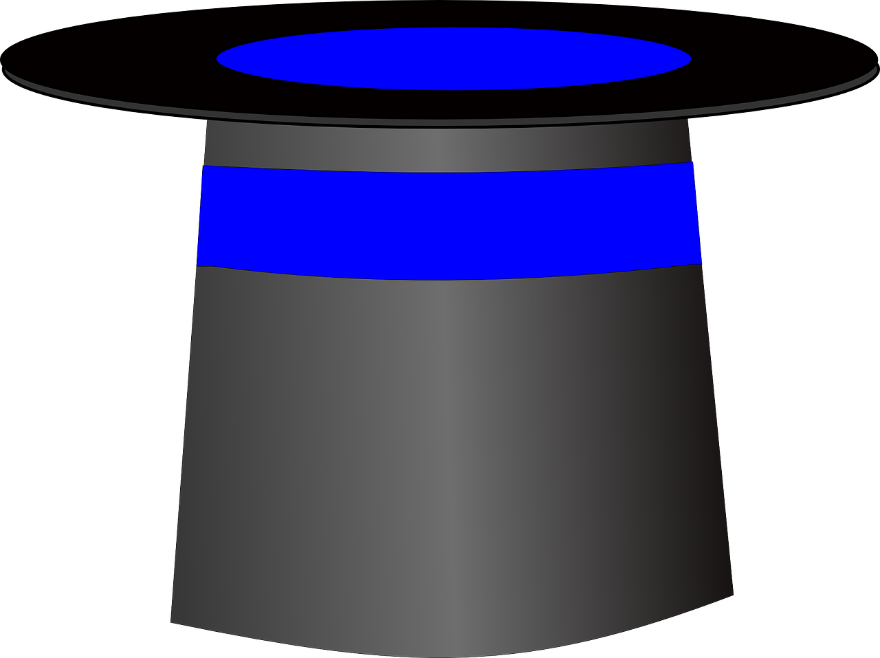 Top Hat Magic Logo Blue Black PNG   Picpng