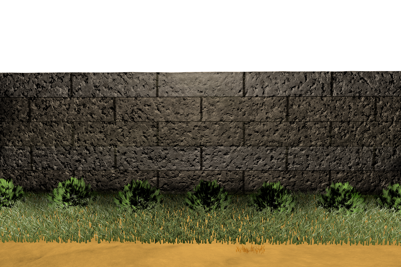 Wall Stone Wall Meadow Isolated