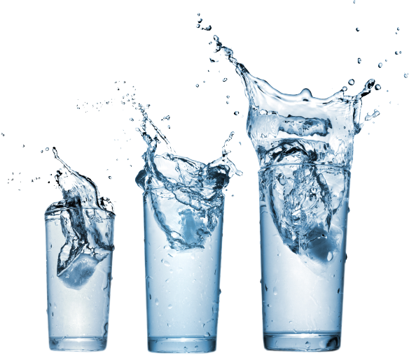 Water glass Background