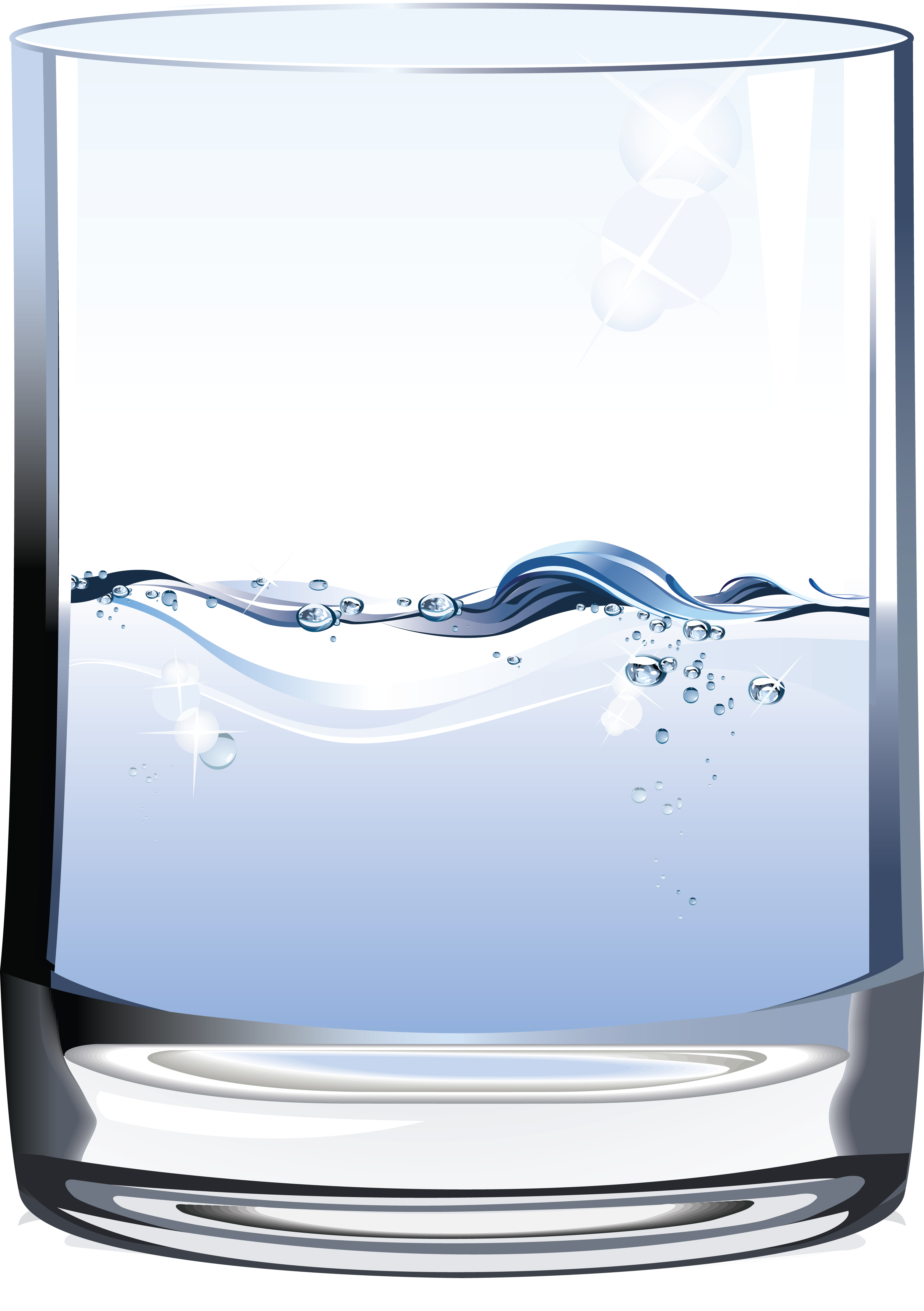 Water glass illustration