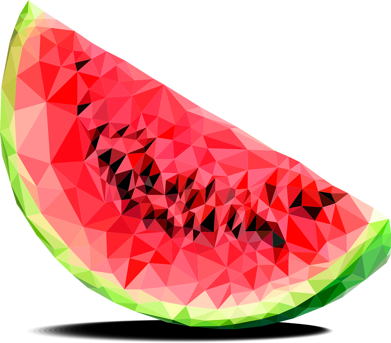 Watermelon Triangles Berry Fruit